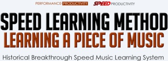 SPEED Learning Method for Music, Learning a Piece of Music